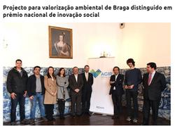 Projecto para valorização ambiental de Braga distinguido em prémio nacional de inovação social