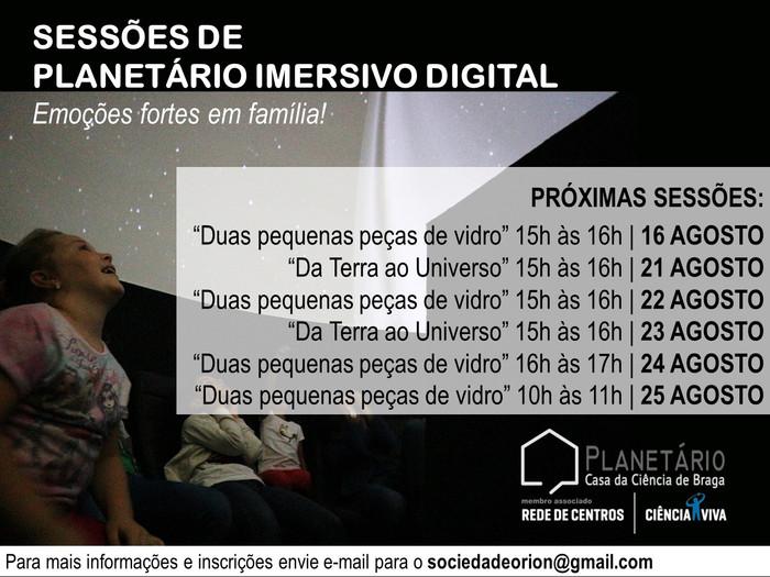 Sessões Planetário Imersivo Digital