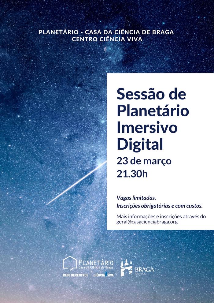 Sessão de Planetário Imersivo Digital