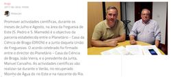 Parceria leva ciência ao vale do Rio Este