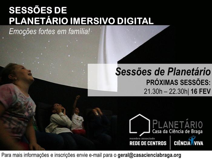 Sessão Planetário Imersivo 16 de fevereiro de 2018