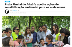 Praia Fluvial de Adaúfe acolhe ações de sensibilização ambiental para os mais novos