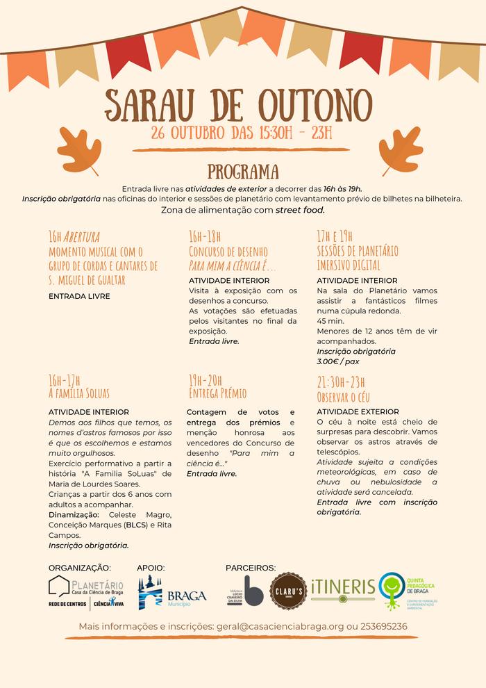 Programa Sarau de Outono 2019