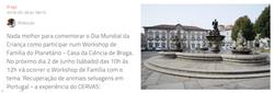 Dia Mundial da Criança na Casa da Ciência de Braga