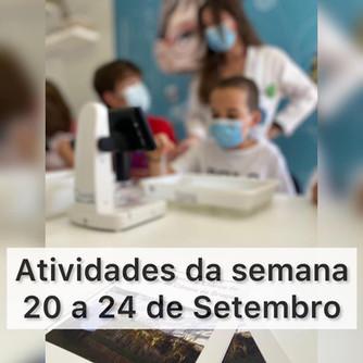 Atividades científicas de 20 a 24 de setembro