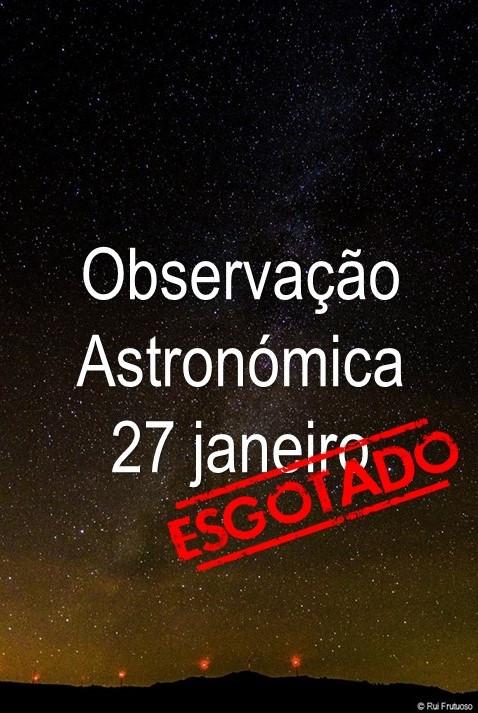 Inscrições Observação Astronómica ESGOTADAS
