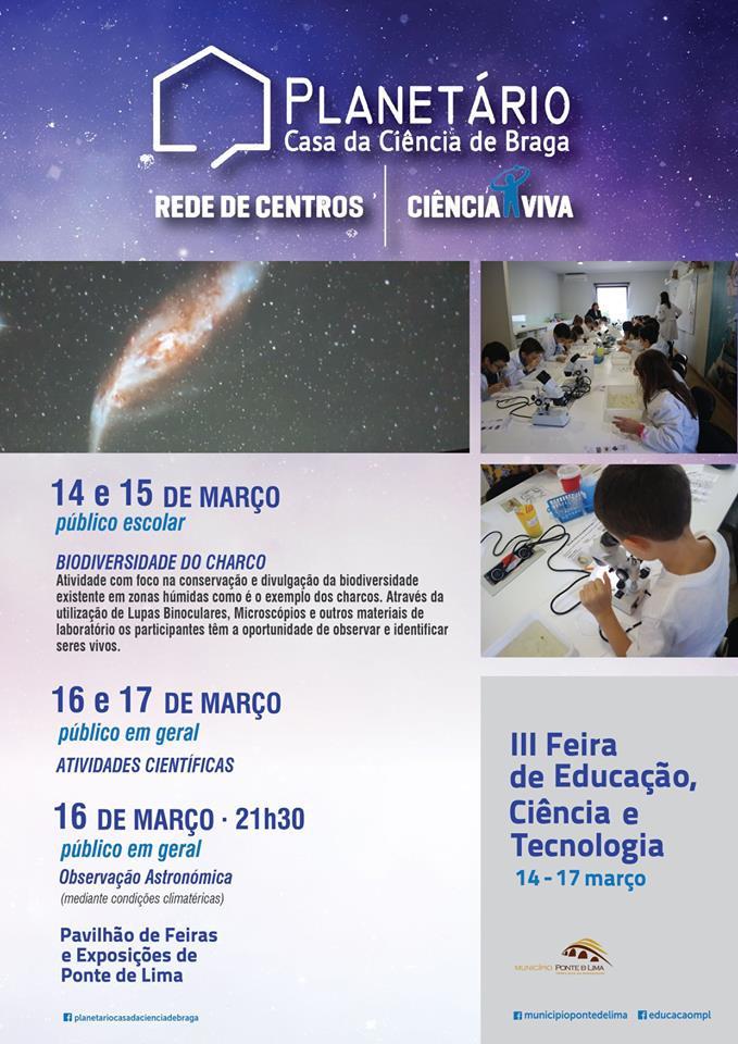 III Feira da Educação, Ciência e Tecnologia - Ponte de Lima