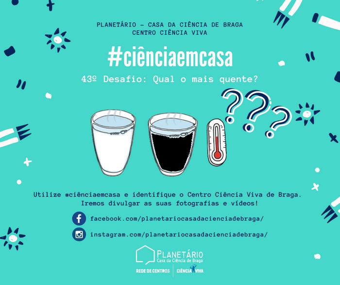 #ciênciaemcasa: 43º desafio