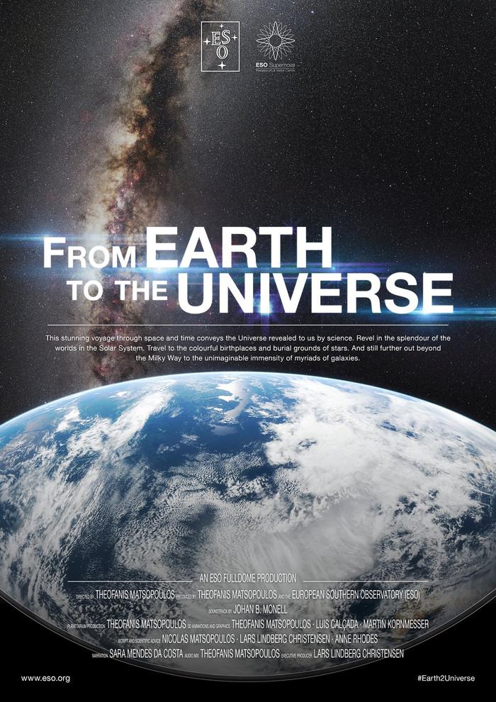 """Filme """"Da Terra ao Universo"""" em exibição no Planetário - Casa da Ciência de Braga"""