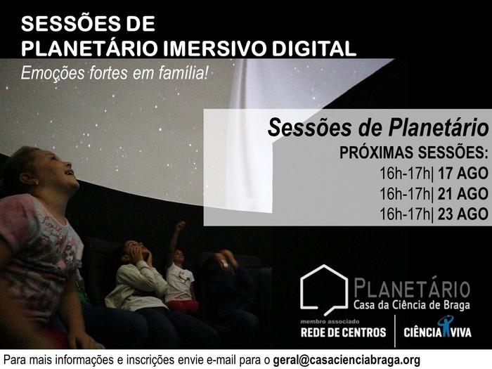 Sessões de Planetário Imersivo Digital
