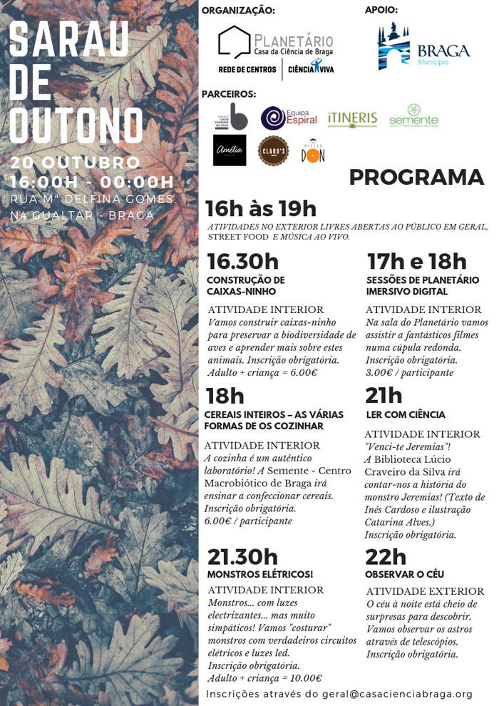 Programa Sarau de Outono 2018