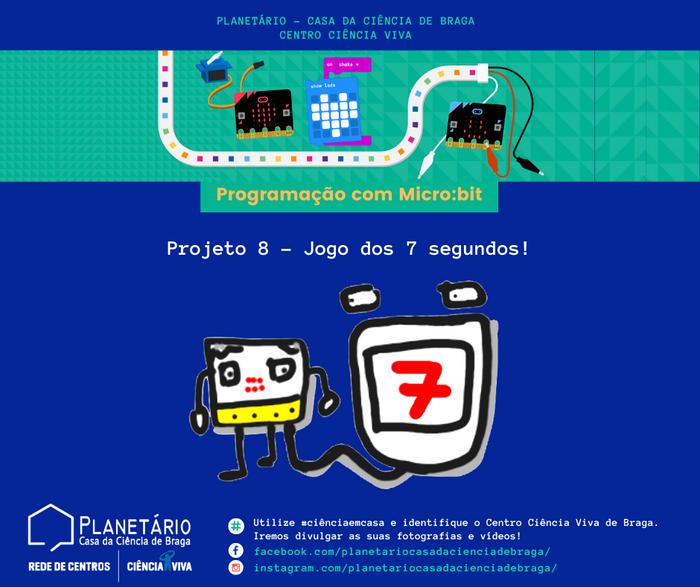 #ciênciaemcasa: Programação com Micro:bit - Projeto 8