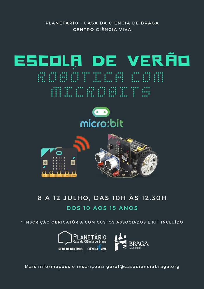 Escola de Verão de Robótica com Microbits