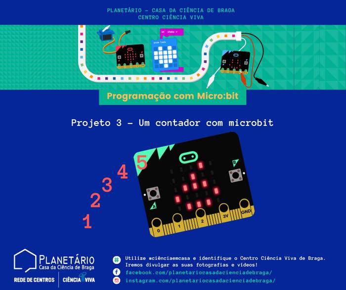 #ciênciaemcasa: Programação com Micro:bit - Projeto 3