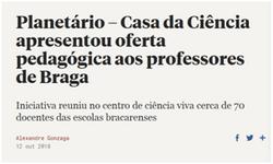 Planetário – Casa da Ciência apresentou oferta pedagógica aos professores de Braga