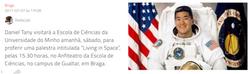 Astronauta da Nasa visita Escola de Ciências da Universidade do Minho