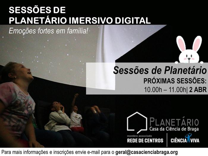 Sessão Planetário Imersivo 2 de abril de 2018