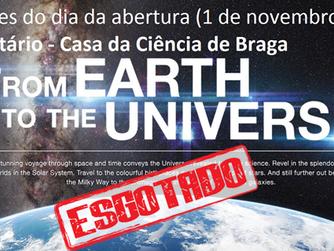 Sessões de Planetário Imersivo do dia 1 de novembro esgotadas!!
