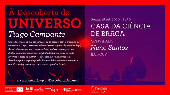 «À Descoberta do Universo», ciclo de conversas com Tiago Campante e convidados