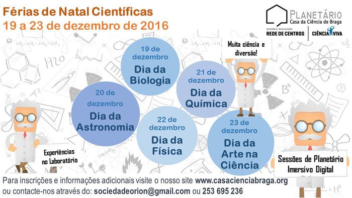 Férias de Natal Científicas