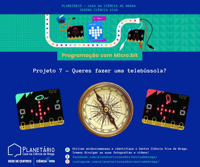 #ciênciaemcasa: Programação com Micro:bit - Projeto 7