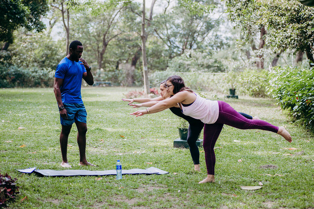 Personal Training in the garden
