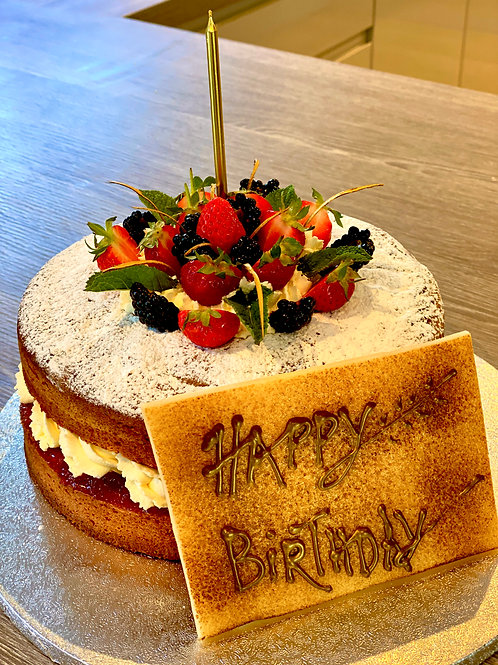 Victoria Sandwich Birthday Cake