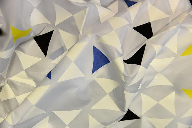 Duschvorhang Triangle Weiß/Gelb/Schwarz/Blau DEUTRG1014