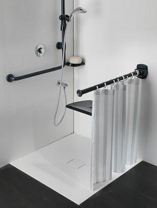Duschvorhang Riverside für Duschspritzschutz