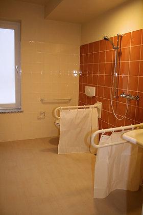 Duschvorhang Onde für Duschspritzschutz