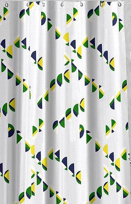 Duschvorhang Jamaica Blau/Grün/Gelb DEUJAM1012