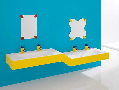 B44CNM15 Y6 Doppel Waschanlage 2 Ebene mit Einhebelmischer und Spiegel.jpg