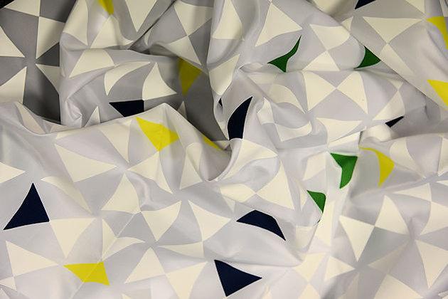 Duschvorhang Triangle Weiß/Gelb/Grün/Blau DEUTRG1013