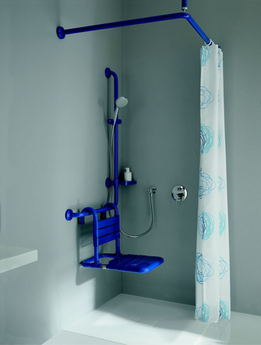 Maxima Ambiente Dusche in blau