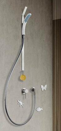 Magnetdusche mit Schieber und Stange 70 cm DEUMS70