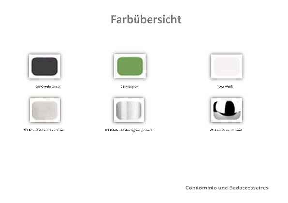 Farbauswahl Condominio & Badaccessoires