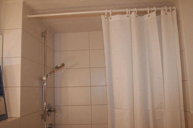 Duschvorhang schwerentflammbar weiß aus Trevira Garn unbehandelt DEUCSWE903