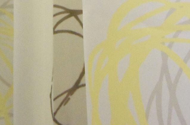 Duschvorhang Snowball Yellow-Brown DEUSNO1015