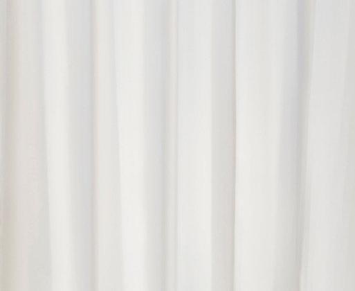 Duschvorhang Onde einfarbig Weiß DEUONWE901