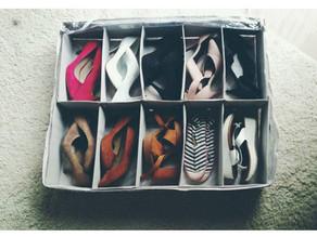 Organização de sapatos em espaços pequenos