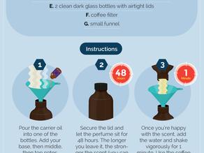 Perfume de óleos essenciais DIY
