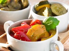 Antipasti de legumes que vai fazer sucesso