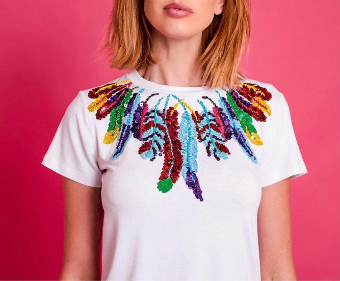 Camiseta Penas Colorful