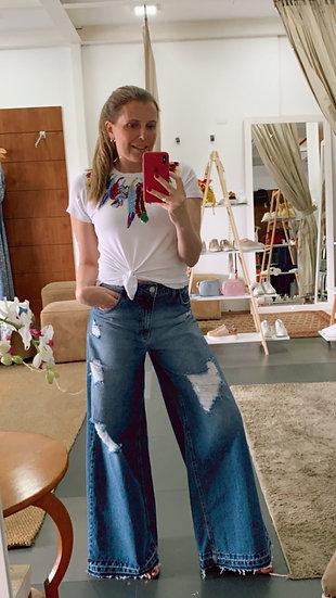 Pantalona Jeans Destroyed