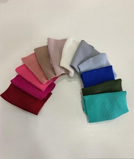 Máscara em tricot