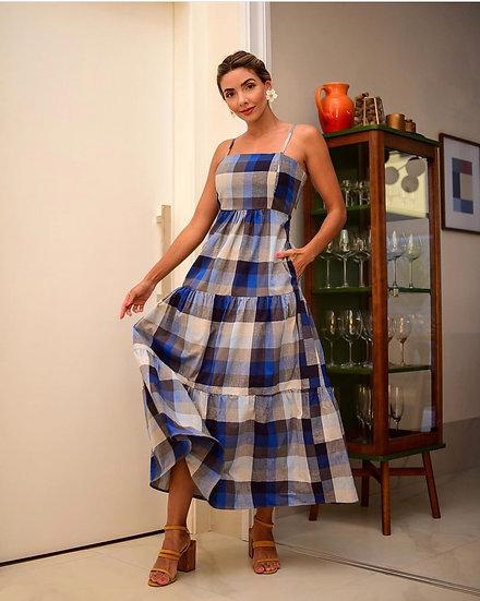 Vestido Xadrez Blue