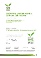 SGBC Services Certificate (Air-Condition