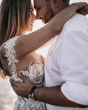 Shooting bei Sonnenuntergang an einer Hochzeit, Destination Wedding Mallorca