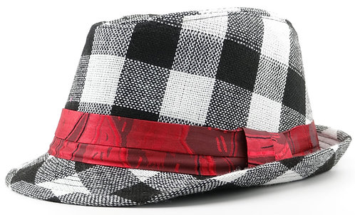Plaid Fedora Hat For Boys