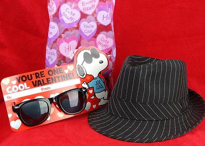 Kids Fedora Pinstripe Gift Set